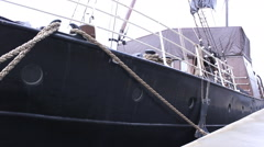 Big Boat in harbor Town 1920x1080 full hd footage Stock Footage