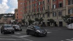 Rome Italy busy road traffic pedestrians HD 026 Stock Footage