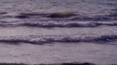 Caribbean waves at sunrise moody 02 Stock Footage