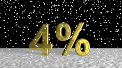 Close up Snow Flakes Falling on Golden 4% Stock Footage