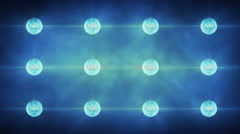 Flashing Concert Stadium Disco Stage Lights 5 versions 1 blue Stock Footage