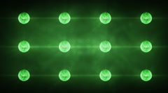 Flashing Concert Stadium Disco Stage Lights 5 versions 2 green Stock Footage
