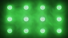 Flashing Concert Stadium Disco Stage Lights 5 versions 6 green Stock Footage