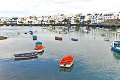 charco de san gines, arrecife, - stock photo