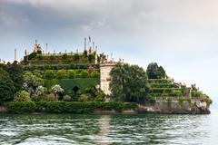 park on the island of Isola Bella. Italy - stock photo