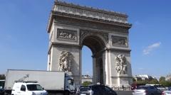 12 Arc de Triomphe 1080P Stock Footage
