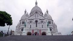 Sacred Heart Sacre Coeur Church in Montmartre, Paris, France 4K Stock Video Stock Footage