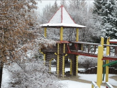 Playground in the winter. Related clips are in my portfolio in 1920x1080. Stock Footage