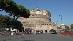 Rome Italy Castel Sant Angelo castle 4K 030 Stock Footage