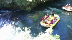 Rafting on the Kaituna River. New Zealand Stock Footage