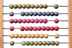 Coloured abacus Stock Photos