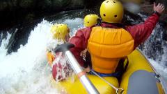 Rafting on the Kaituna River with GoPro. New Zealand Stock Footage