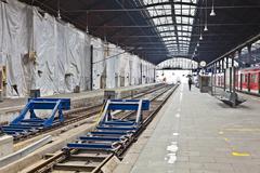 Railway station in wiesbaden Stock Photos