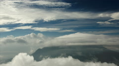 Lenticular cloud over summit of Mount Merapi, Indonesia Stock Footage