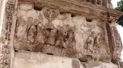 41 Roman Forum Titus Arch Detail L 1080P - stock footage