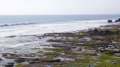 Rocky wild beach in Bali. Stock Footage