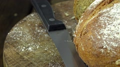 Loaf of bread (not loopable) Stock Footage
