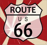 Route 66 splash Piirros