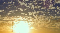 Jerusalem Sunset with passing fluffy clouds, time lapse Stock Footage