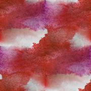watercolor texture red, violet, white background wallpaper seam - stock illustration