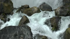 Rough waterfall in New Zealand Stock Footage
