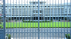 Independence Palace through the Front Gates - Ho Chi Minh City Vietnam Stock Footage