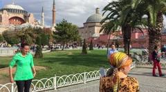 Istanbul Sultanahmet and Hagia Sophia Stock Footage