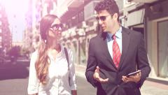 Attractive Young Business Team Man Woman Discussing Project Manager Employee Stock Footage