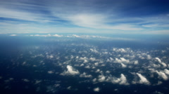 Stock Video Footage of Skyscape from plane Window