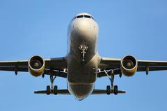 Airplane landing at an airport Kuvituskuvat