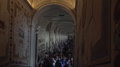 Rome Italy Vatican inside hall art ceiling HD 005 Stock Footage