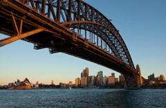 Sydney Cityscpe Dusk Motion Timelapse - stock footage
