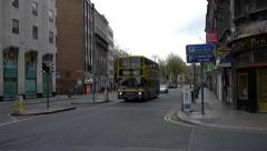 Dublin Bus on College Green Stock Footage