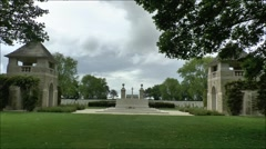 The Beny-Sur-Mer Canadian Commonwealth Cemetery, Normandy, France. Stock Footage