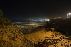 Biarritz in France at night - stock photo