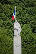 War Memorial with General Foch Stock Photos
