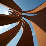 The steel Venet sculptures at Versailles Stock Photos