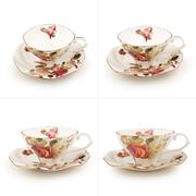 Antique tea cup on white background - stock photo