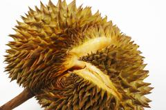 crevice of durian - stock photo