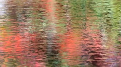 Reflection of fall foliage upon water - stock footage