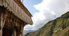 4k lhasa pabangka temple,Tibet. Stock Footage