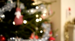 Focus in on Christmas Tree Stock Footage