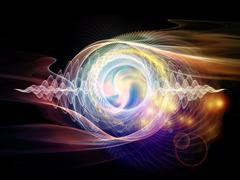 Wave Particle - stock illustration