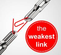 The weakest link Stock Illustration