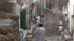 Street in Karachi, Pakistan Stock Footage