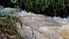 Overflowing River - Flood Season Stock Footage