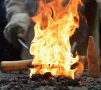 Blacksmith furnace Stock Photos