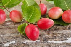 nham dang or sour fruit on wood - stock photo