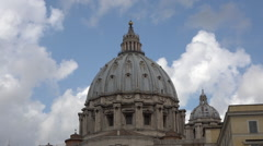 Rome Italy Vatican St Peters Basilica dome moving clouds HD 029 - stock footage