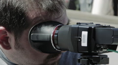 Cameraman at work  Stock Footage